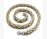 Steel rage Gold Silver (8мм) 60 см