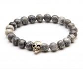 Skull Jasper Grey