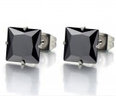 Stud square black 6mm